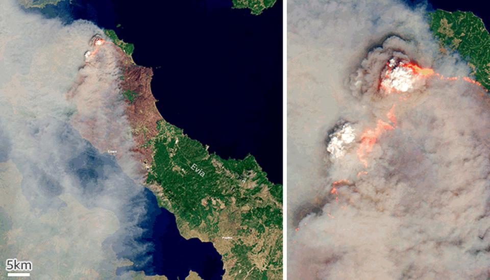 Incendios en Evia Grecia